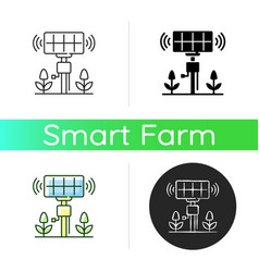 Smart agriculture sensors icon vector