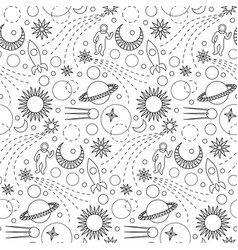 space doodle seamless pattern vector image