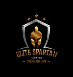 Sparta warrior helmet logo elite warrior logo vector