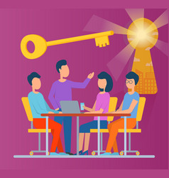 teachers team meeting or students group class vector image
