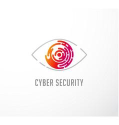 technology concept eye logo and icon vector image