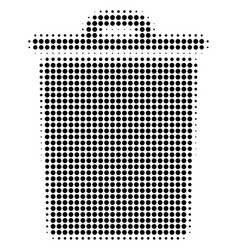 trash bin halftone icon vector image