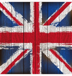 Union Jack on wooden planks vector