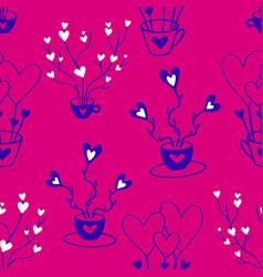 valentines hand drawn seamless pattern-03 vector image