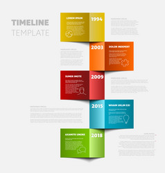 Vertical timeline template vector
