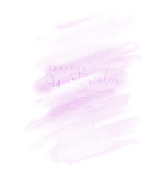 watercolor hand painted abstract with pink brush vector image