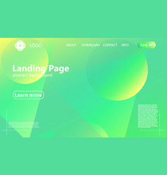 website landing page geometric background vector image