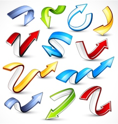colour arrows vector image vector image