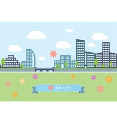 Flat design modern of urban vector image
