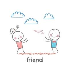 friend vector image vector image
