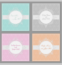 hands drawing a cute set of wedding invitation vector image vector image