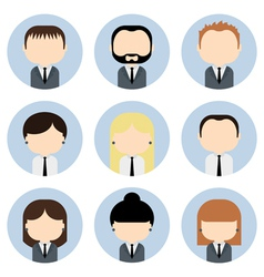 Set of colorful office businessman people icons vector image