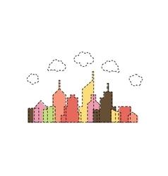 Abstract cartoon city design vector image