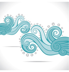 Blue abstract swirl background pattern vector image vector image