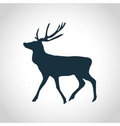 Deer black silhouette vector image vector image