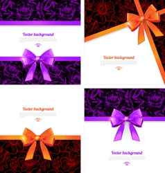 Elegant backgrounds with bow vector image vector image