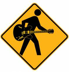 guitar sign vector image