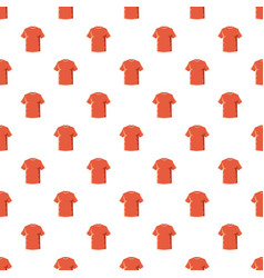 orange soccer shirt pattern vector image vector image