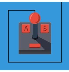 Retro gamepad in flat style vector image