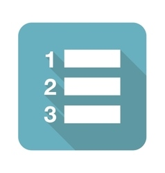 Square numbered list icon vector