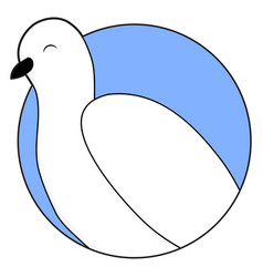 white dove sticker icon vector image vector image