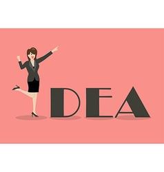 Business woman idea concept vector image