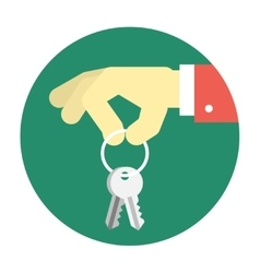 Hand holding keys vector image vector image