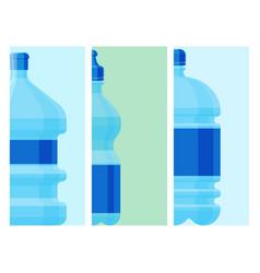 water plastic bottle cards transparent vector image