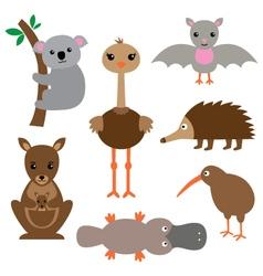 Australian animals set vector image vector image
