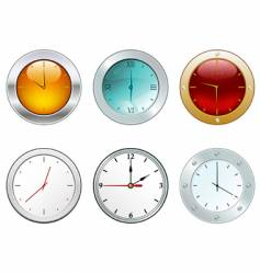 clocks in different styles vector image
