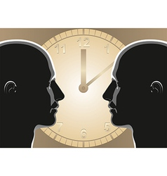 Communication Relationship vector image