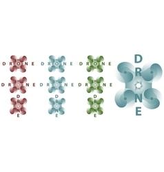 Drone logo set vector image