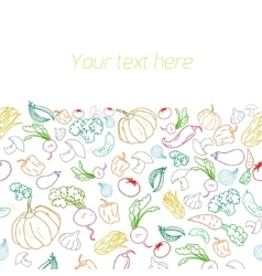 Fresh vegetables with placeholder for text vector image vector image