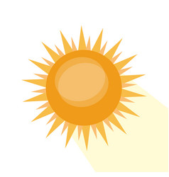 isolated sun icon vector image vector image