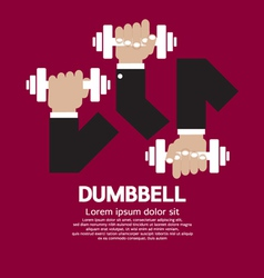 Set Of Hand Holding Dumbbell vector image vector image