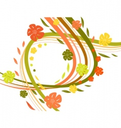 wavy autumn vector image vector image