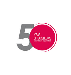 50 year excellence anniversary celebration vector