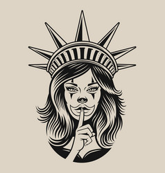 A girl in chicano tattoo vector