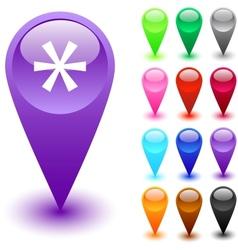 Asterisk button vector image