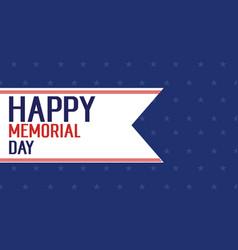 Background of happy memorial day vector