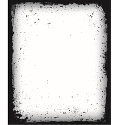 Black grunge frame isolated vector