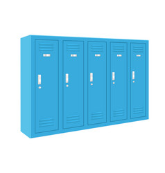 Blue lockers vector