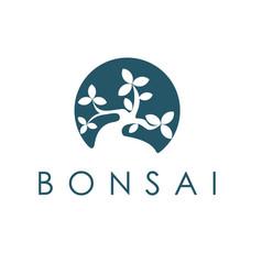 Bonsai logo design inspiration vector