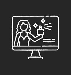 Brand ambassador chalk white icon on black vector