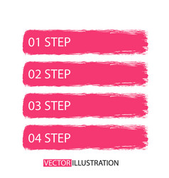 brush strokes infographics options banner vector image