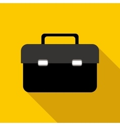 Business briefcase icon flat style vector image
