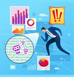 Business data analysis vector
