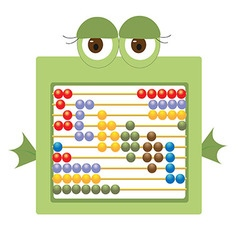 Childrens abacus depicting a frog vector image