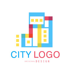 city logo original design abstract city building vector image