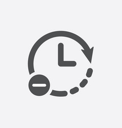 Clock icon time reduce icon simple vector